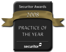 Securitor 2008 Practice of the Year Award Seal