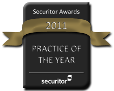 Securitor 2011 Practice of the Year Award Seal