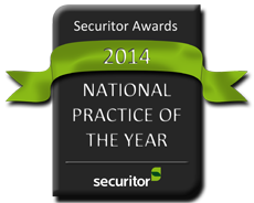Securitor 2014 National Practice of the Year Award Seal