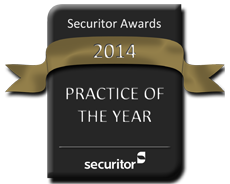 Securitor 2014 Practice of the Year Award Seal