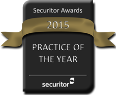 Securitor 2015 Practice of the Year Award Seal
